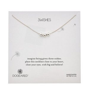 NWT! Dogeared 3 Wishes Necklace